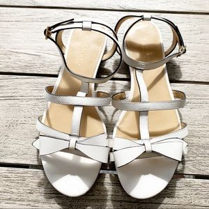 Talbots Keri Bow Vachetta Leather Sandal Size 7.5